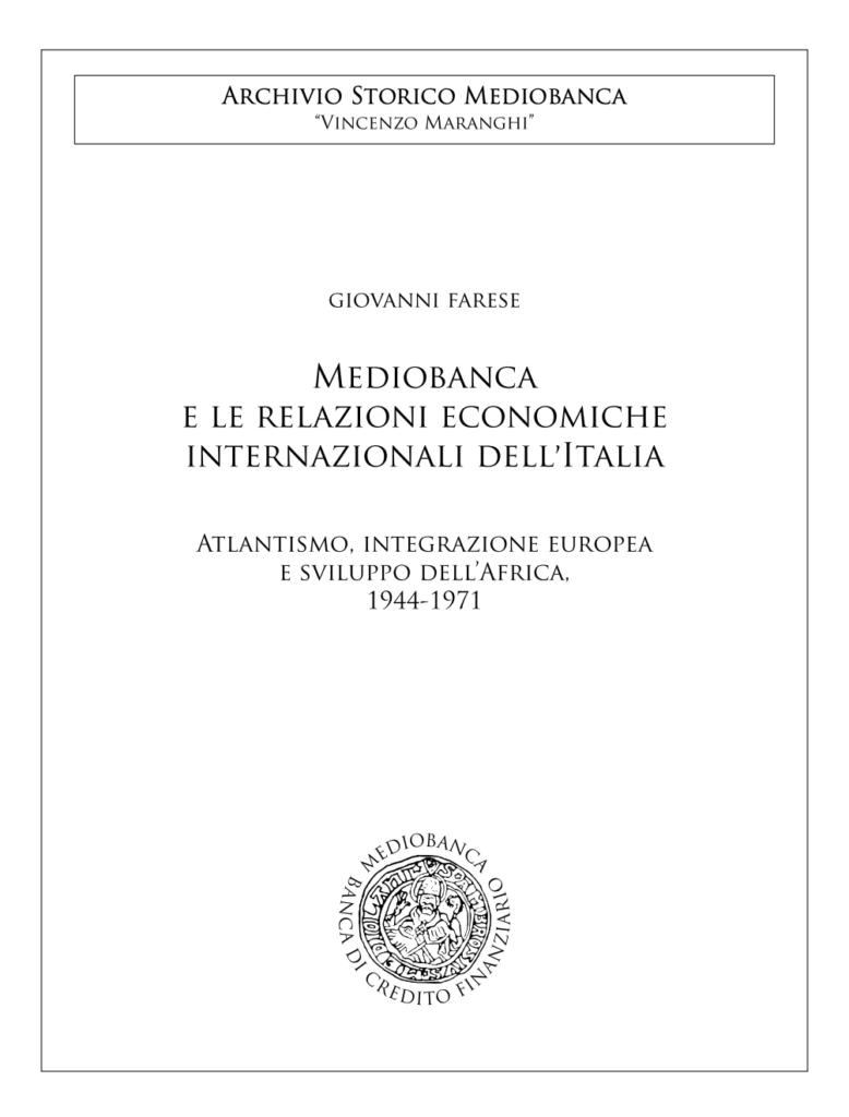 Mediobanca e le relazioni economiche internazionali dell'Italia