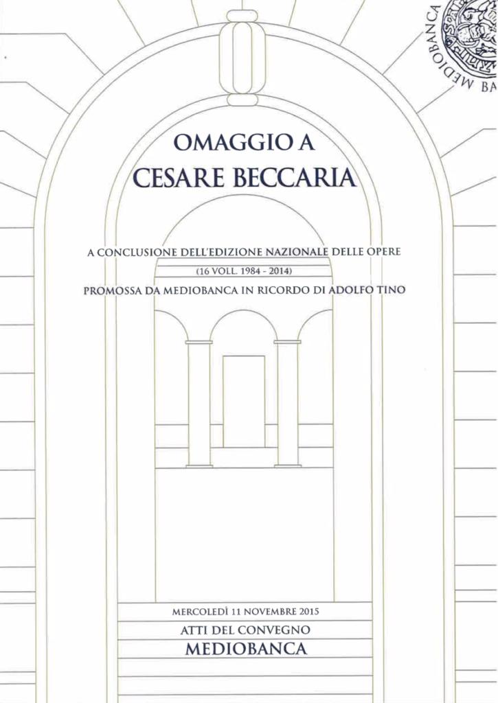 Omaggio a Cesare Beccaria
